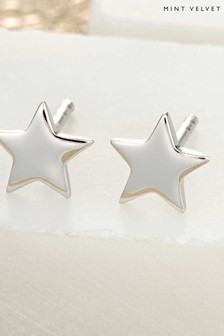 Mint Velvet Silver Tone Tiny Star Stud Earrings