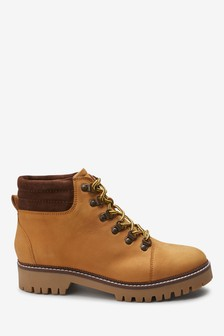 Hiker Style Lace-Up Boots