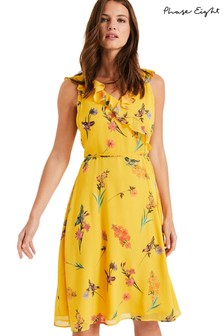 Phase Eight Yellow Joss Floral Dress