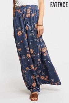 FatFace Blue Rue Sunset Floral Tiered Maxi Skirt