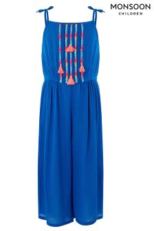 Monsoon Blue Ella Culotte Jumpsuit