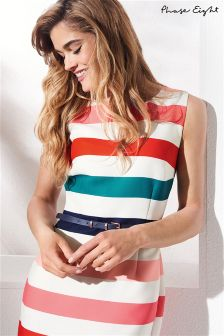 Phase Eight Multi Stripe Faye Stripe Dress