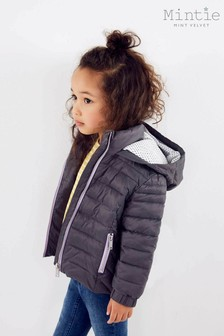 Mintie by Mint Velvet Dark Grey Short Padded Coat
