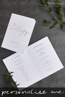 Personalised Script Foil Order Of The Day Single Card by Wedding Graphics