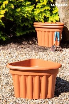 Set of 3 Vista 49cm Corner Garden Planters by Wham
