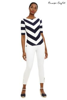Phase Eight White Caroline Tab Jean