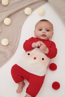 Santa Knit Romper (0mths-2yrs)