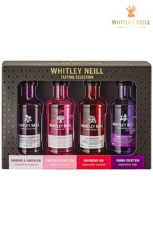 Set of 4 Tasting Gin Gift Set by Whitley Neill