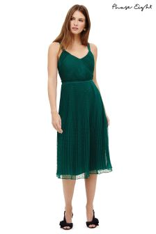Phase Eight Emerald Green Pascale Pleated Dress