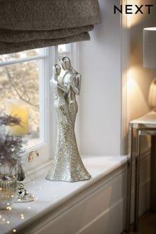 Silver Couple Figurine