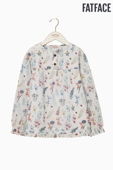 FatFace Natural Wild Flower Print Blouse