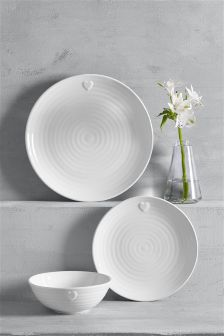 12 Piece Heart Dinner Set