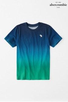 Abercrombie & Fitch Blue Dip Dye Short Sleeve T-Shirt
