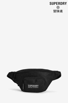 Superdry Black Glitter Mesh Bag