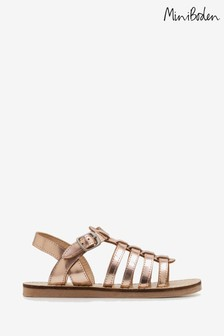 Boden Gold Leather Gladiator Sandal