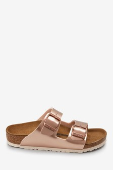 Birkenstock® Kids' Metallic Copper Arizona Sandal