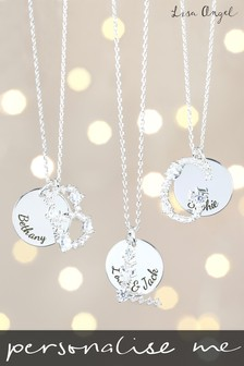 Personalised Diamante Initial Necklace by Lisa Angel