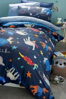Animal Slumber Party Duvet Cover and Pillowcase Set