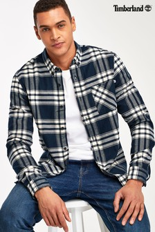 Timberland® Navy Regular Fit Heavy Flannel Check Shirt