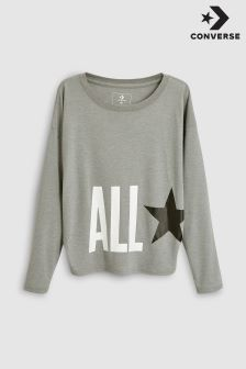 Converse Grey Star Knit Top