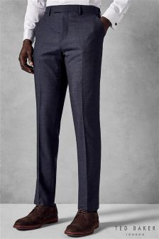 7219b00a9548aa Buy Men s Suit Trousers Branded Fashion Ted Baker Blue Tedbaker from ...