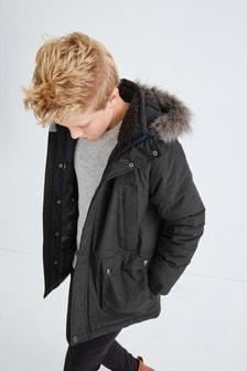 Непромокаемая куртка-парка (3-16 лет)