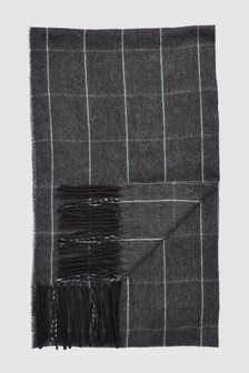 Windowpane Check Scarf
