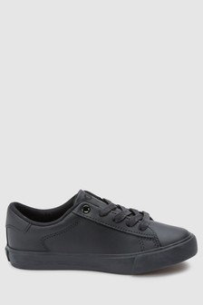 Polo Ralph Lauren Easten Triple Black Lace Up Trainer