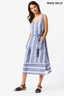 White Stuff Purple Athel Stripe Midi Dress
