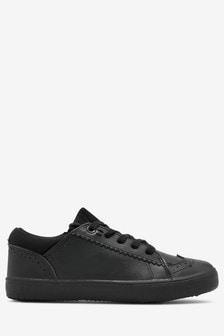 נעלי ברוג מעור עם שרוכים (נוער)