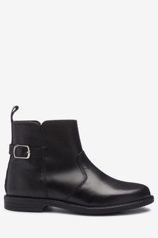 Leather Buckle Ankle Boots (Older)