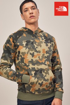 The North Face® Taupe Green Camo Red Box Hoody