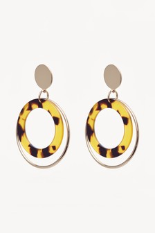 Resin Ring Drop Earrings