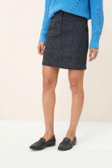Coated Denim Mini Skirt
