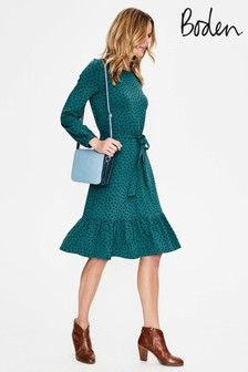 Boden Green Holly Jersey Dress