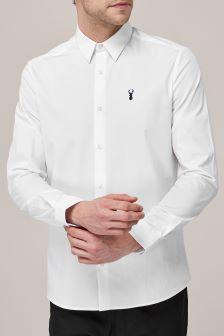 Koszula z długim rękawem ze streczu