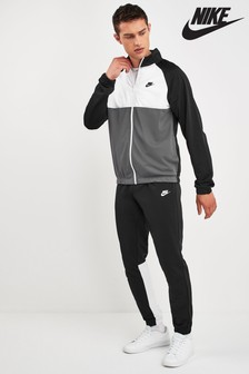 Nike Black/White/Grey Colourblock Tracksuit