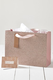 Glitter Party Gift Bag Set