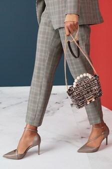 Кожаные туфли с асимметричным ремешком