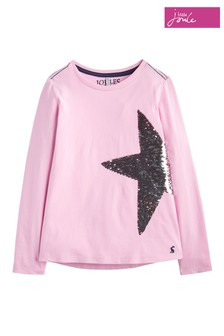 Joules Dusk Pink Sequin Embroidery Top