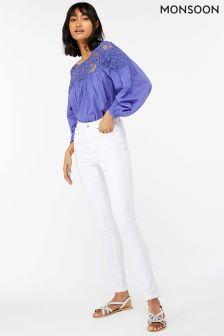 Monsoon White Iris Skinny Jean Regular Length