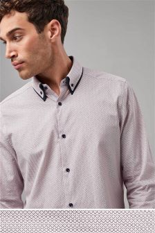Рубашка с длинными рукавами и двойным воротником