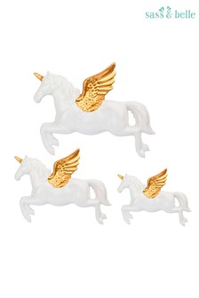 Set of 3 Sass & Belle Flying Unicorn Decorations