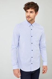 Elegancka koszula z długim rękawem ze streczem