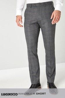 Karirasta moška obleka Luigi Botto Signature: hlače
