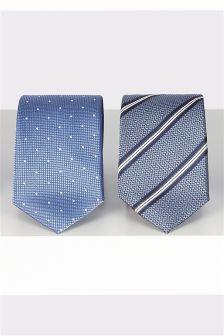 Набор галстуков в горошек и полоску (2 шт.)
