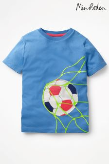 Boden Blue Sports Appliqué T-Shirt