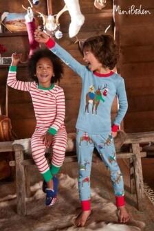 Boden Blue Long John Pyjamas Twin Pack