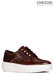 Geox Kaula Brown Cupsole Trainer