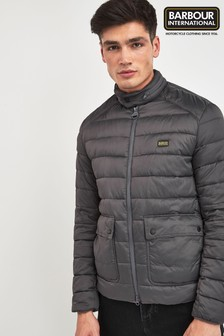 Barbour® International Charcoal Ludgate Quilted Jacket
